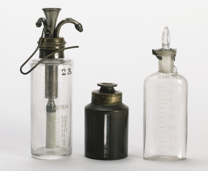 Chloroform drop bottles, 1890-1930.