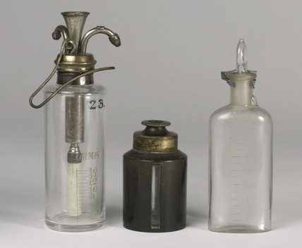 Chloroform drop bottles, 1890-1930.