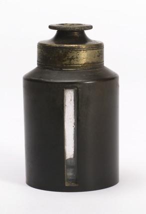 Glass chloroform bottle, European, c 1900.