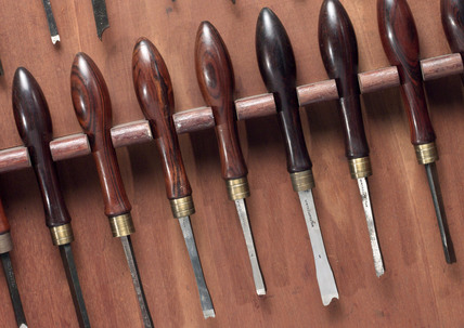 Holzapffel chisel set, early 18th century.