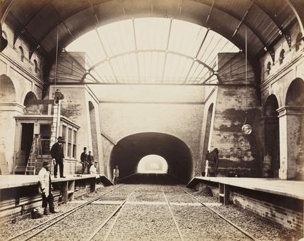 Praed Street Station, Paddington, London, c 1867.