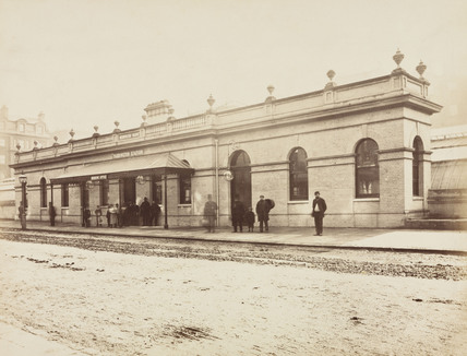 Street elevation of Praed Street Station, Padington, London, 1868.