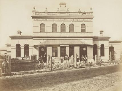 Street elevation of Gloucester Road Station, London, 1868.