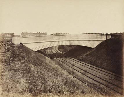 Bridge over the Metropolitan District Railway, Earls Court, London, c 1867.