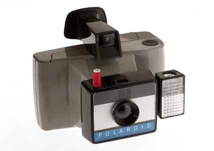 Polaroid 'Swinger II' camera, c 1972.