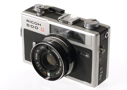 Ricoh 500G 35 mm camera, c 1971.