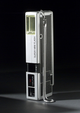 Halina Super Mini Flash camera for 110 cartridge film, c 1977.