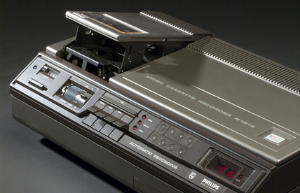 Philips video cassette recorder, type N1502, c 1974.