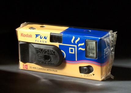 Kodak 'Fun Flash' disposable 35mm camera, 1999.