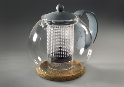 'Assam Tea Press' teapot by Bodum, 1998.