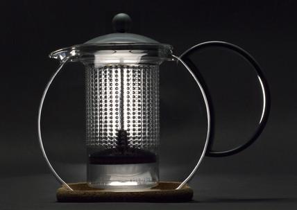 'Assam Tea Press' teapot by Bodum, 1998.
