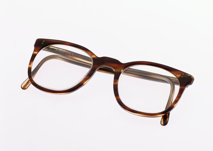 National Health Service spectacles with mock tortoiseshell frames, 1970-1980.