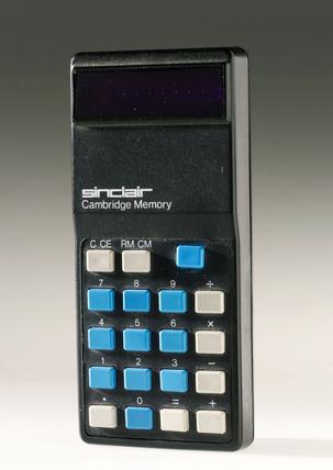 Sinclair Cambridge Memory electronic calculator, 1974.