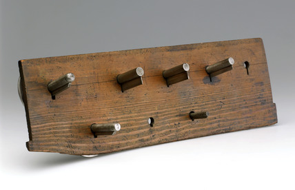 Five Bramah lock templates, c 1780.