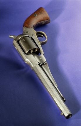 Remington 44 revolver, c 1863.
