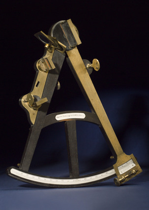 Hadley's quadrant, 12 inch with back sight, early 19th century.