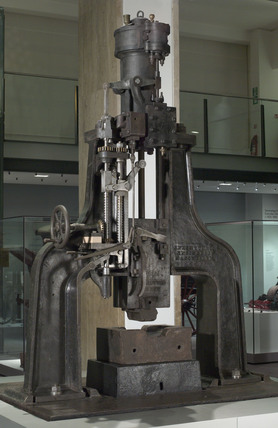 Nasmyth steam hammer, c 1850.