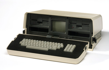 Osborne 1 portable microcomputer, c  1981.