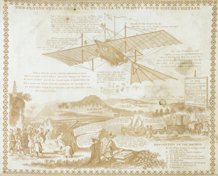 'The Flying Steam Company, to China in Twenty Four Hours Certain', c1843.