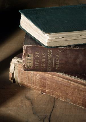 Biographies of George Stephenson, English railway engineer, 19th century.