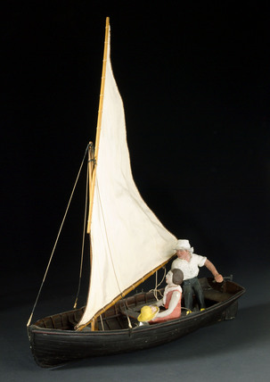 Ten-foot sailing dinghy, 1931.