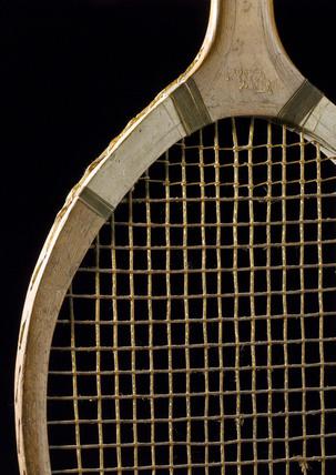 Tennis racquet, c 1927.