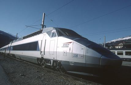 Train a Grande Vitesse (TGV), France, 2001.