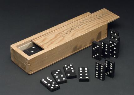 Box of dominoes, c 1990.