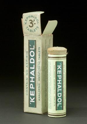 Kephaldol tablets.