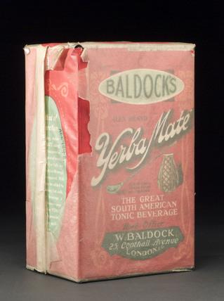 Baldock's 'Yerba Mate' tonic beverage,  1932-1938.