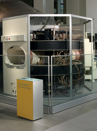 Mallard system Magnetic Resonance Imager (MRI) body scanner, 1983.