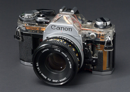 Canon ae1 camera, 1978.