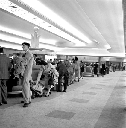 First Class Customs examination hall, Ocean Terminal, 1950.