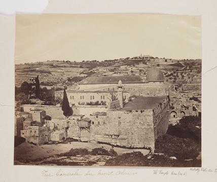 'Vue Generale de Mont Olivier', 1857.