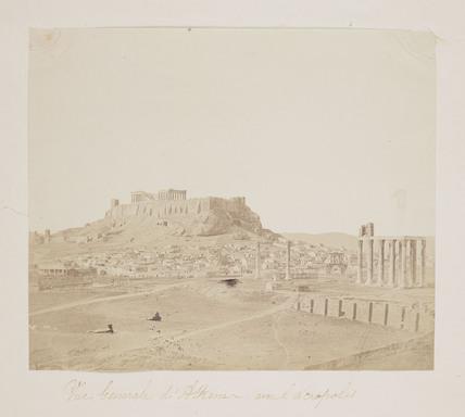 'Vue Generale d'Athenes avec l'acropolis', c 1855.