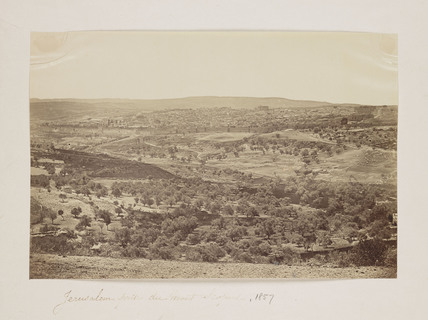 'Jerusalem prise du Mont Scopus', 1857.