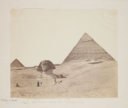'Le Sphinx avec les Pyramides', 1857