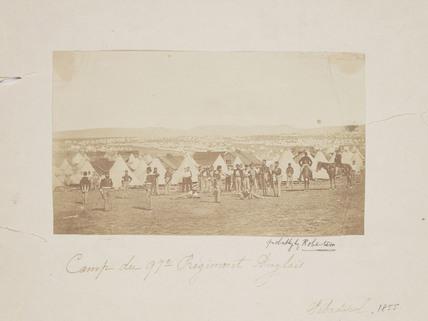 'Camp du 97th Regiment Anglais', 1855.