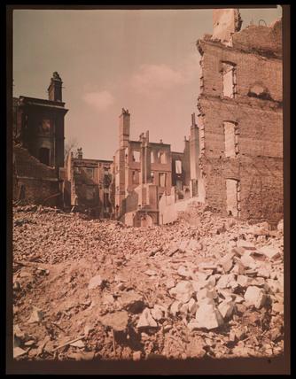 Bombed houses, c 1943.