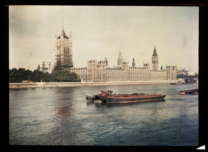 The Houses of Parliament, London, c 1945.