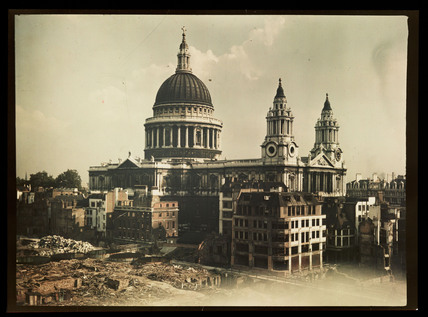 St Paul's Cathedral, London, c 1943.