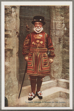 'London: A Yeoman Of The Guard', c 1914.