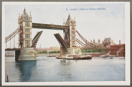 'London: Tower Bridge', c 1914.