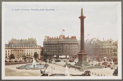 'London: Trafalgar Square', c 1914.