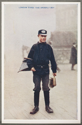 'London Types: The Orderly Boy', c 1914