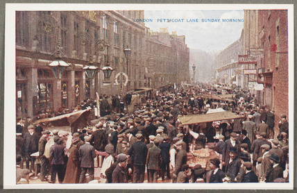 'London: Petticoat Lane Sunday Morning', c 1914.