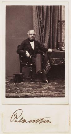 Palmerston, c 1862.