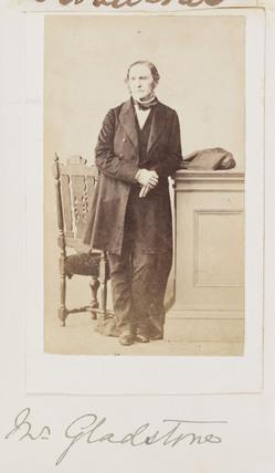 Gladstone, c 1862.
