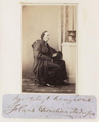 Hans Christian Andersen, c 1865.
