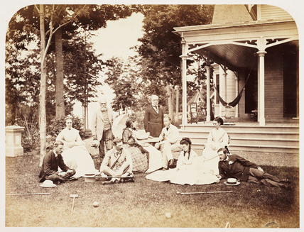 'Group at Belmere', 1860.